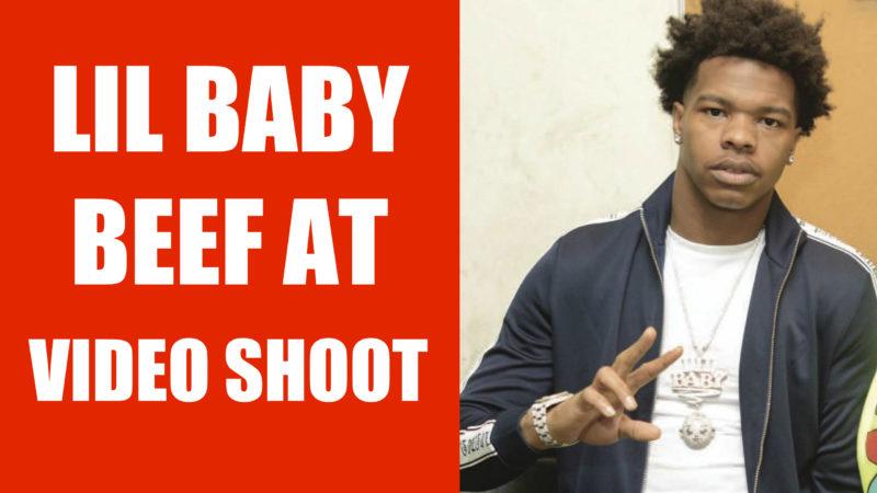 Lil baby beef savage video shoot