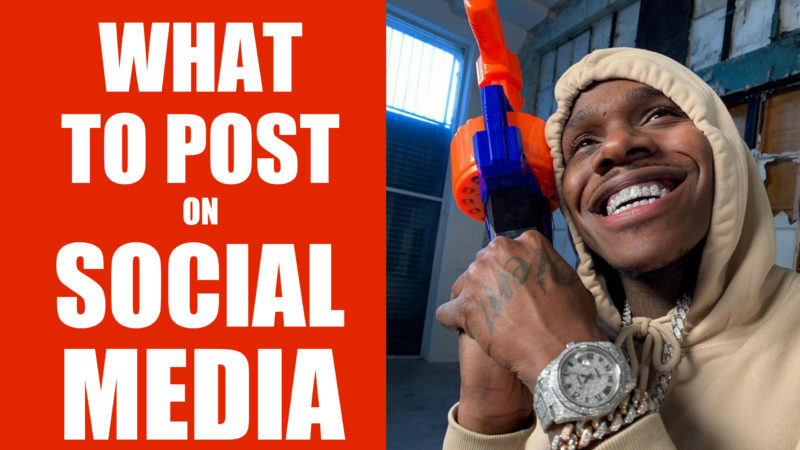 What to Post on Social Media for rappers
