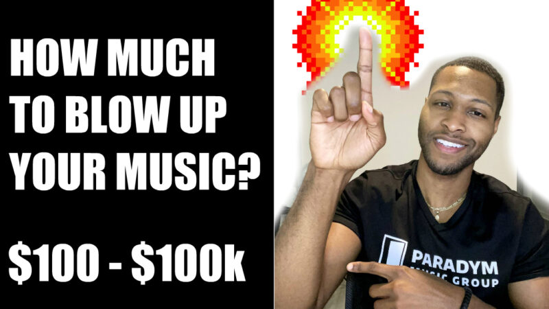 how much to blow up my music